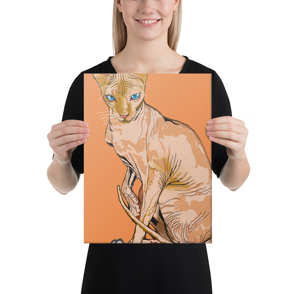 Canvas (in): Sphynx Cat