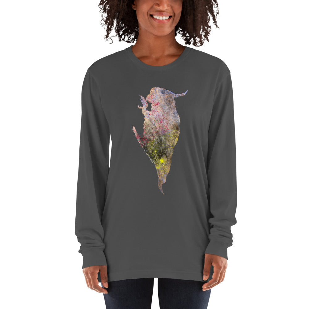 Unisex Long Sleeve Shirt: Cockatoo Silhouette