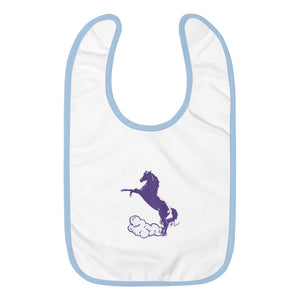 Embroidered Baby Bib: Horse