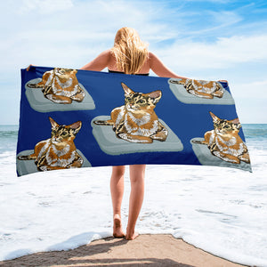 Sublimated Towel: Abyssinian Cat