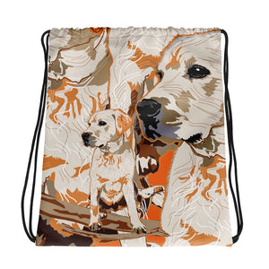 All-Over Print Drawstring Bag: Labrador Retriever