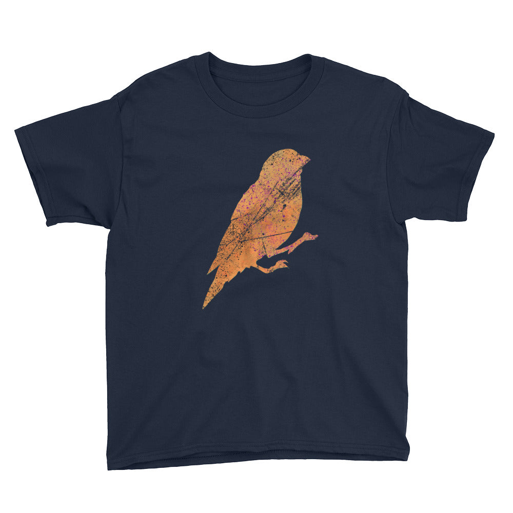 Youth Lightweight T-Shirt: Canary Silhouette