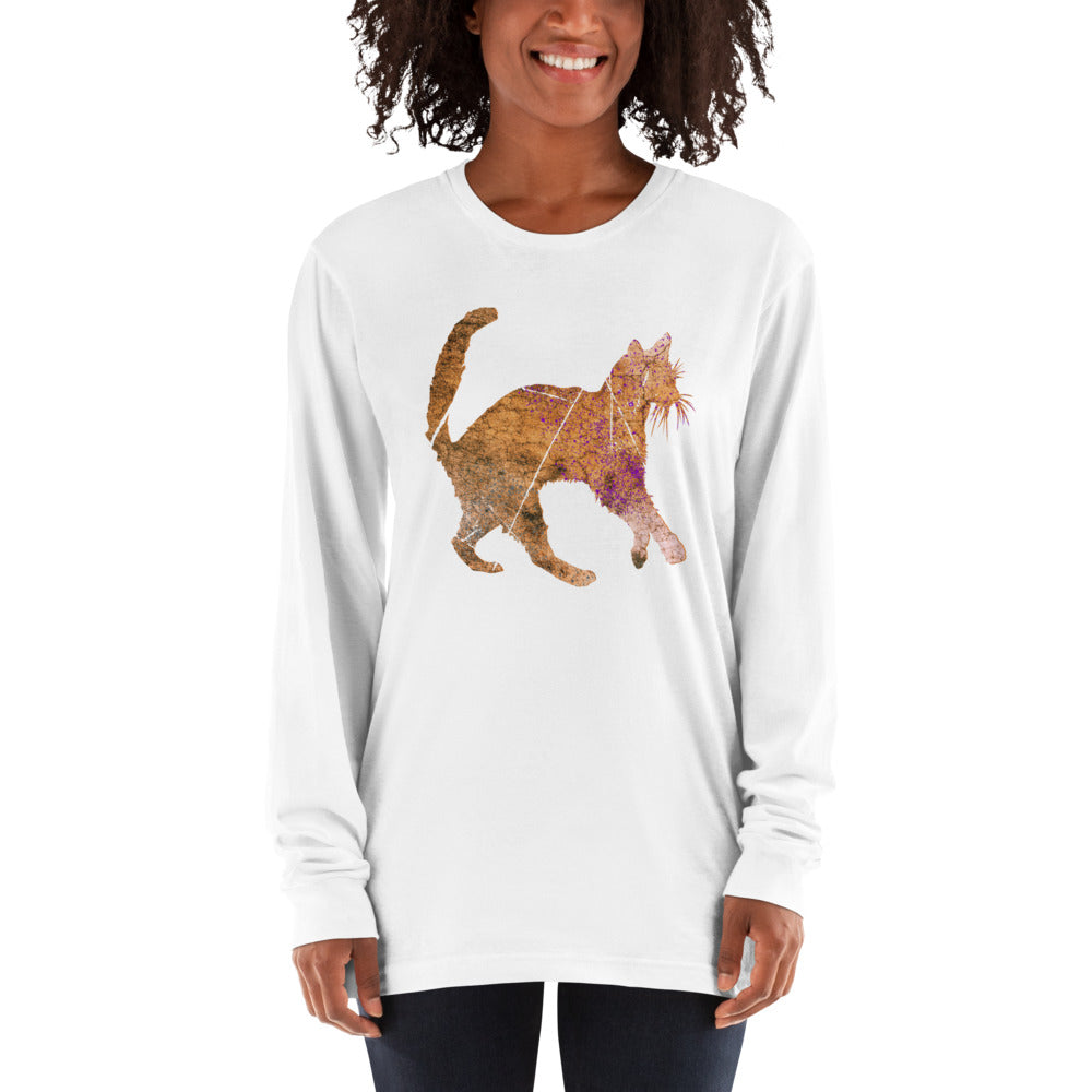 Unisex Long Sleeve Shirt: Siamese Cat Silhouette