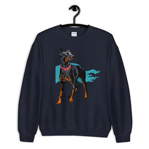 Unisex Crew Neck Sweatshirt: Doberman Pinscher