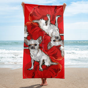 Sublimated Towel: Chihuahua