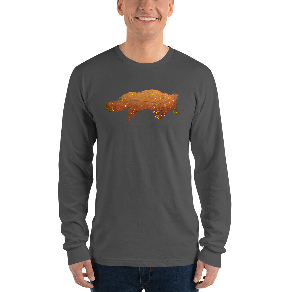 Unisex Long Sleeve Shirt: Persian Cat Silhouette