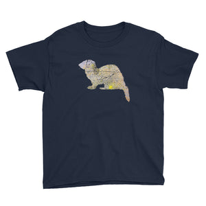 Youth Lightweight T-Shirt: Ferret Silhouette