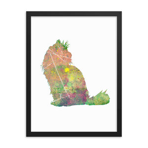 Enhanced Matte Paper Framed Poster (in): Ragdoll Cat Silhouette