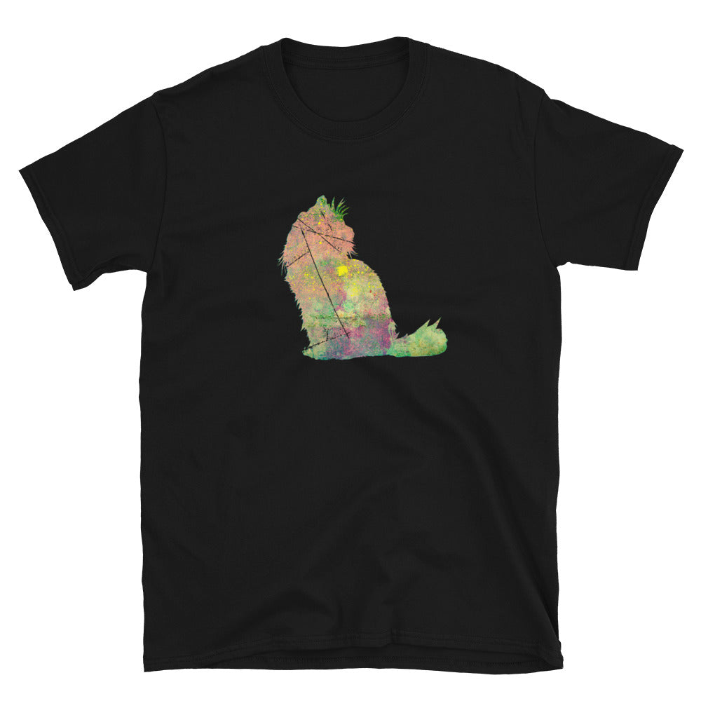 Unisex Basic Softstyle T-Shirt: Ragdoll Cat Silhouette