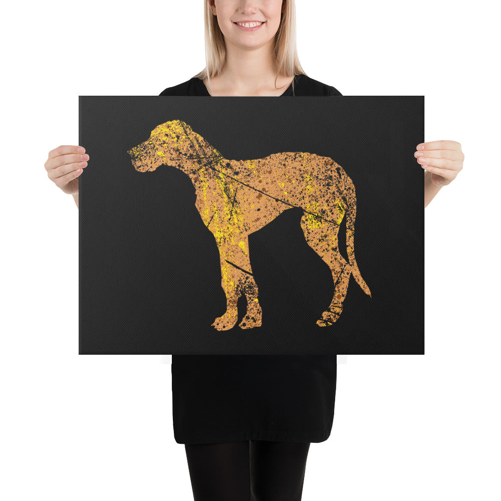 Canvas (in): Great Dane Silhouette