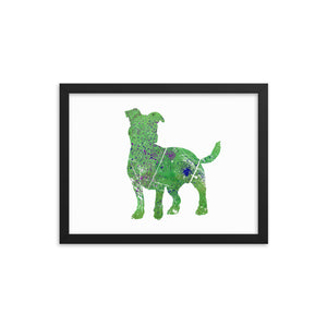 Enhanced Matte Paper Framed Poster (in): Jack Russell Terrier Silhouette