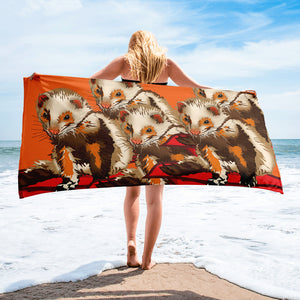 Sublimated Towel: Ferret