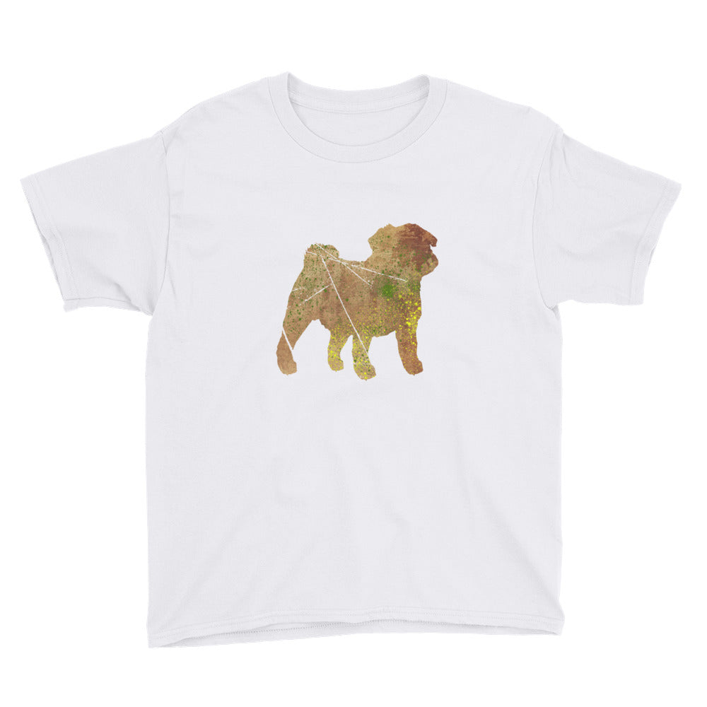 Youth Lightweight T-Shirt: Pug Silhouette