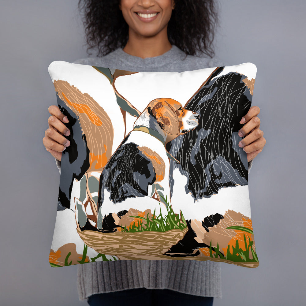All-Over Print Basic Pillow: Beagle