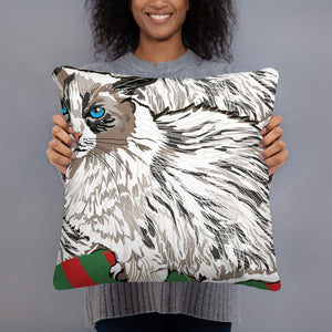 All-Over Print Basic Pillow: Ragdoll Cat
