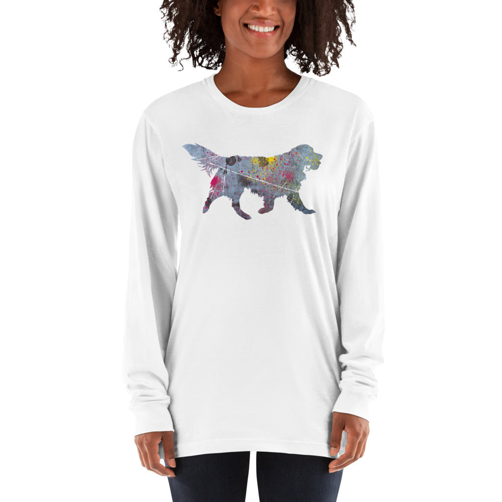 Unisex Long Sleeve Shirt: Golden Retriever Silhouette