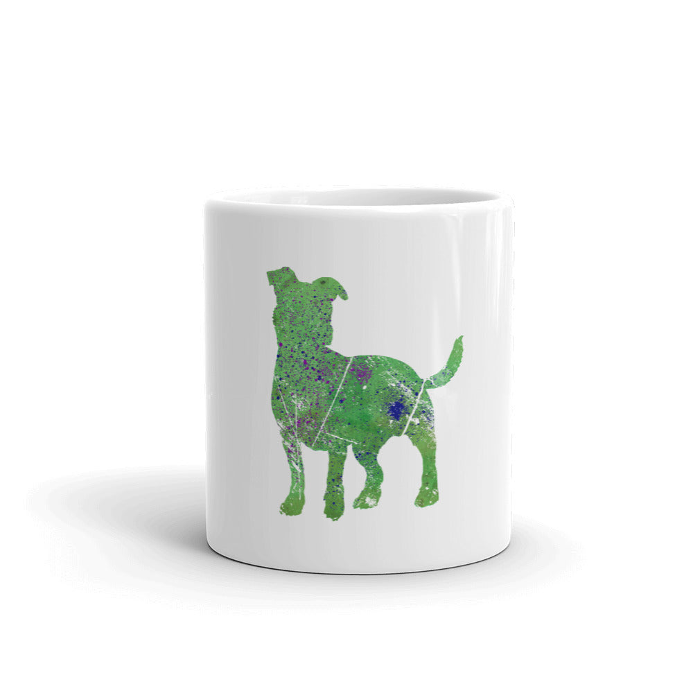 White Glossy Mug: Jack Russell Terrier Silhouette
