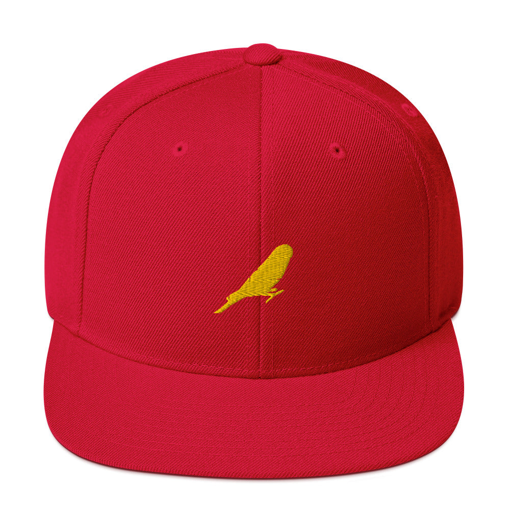 Classic Snapback: Parakeet Silhouette