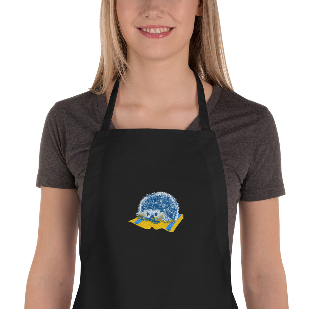 Embroidered Apron: Hedgehog