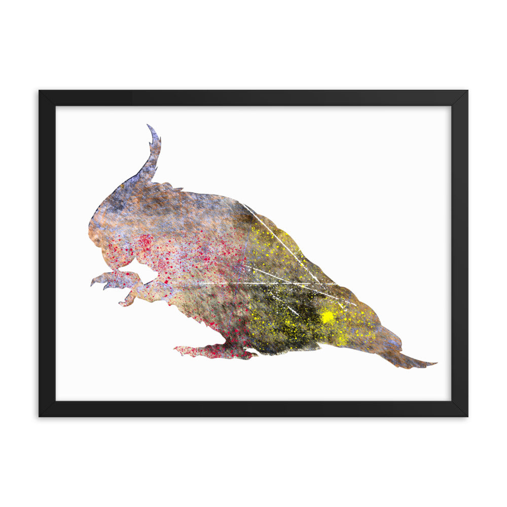 Enhanced Matte Paper Framed Poster (in): Cockatoo Silhouette