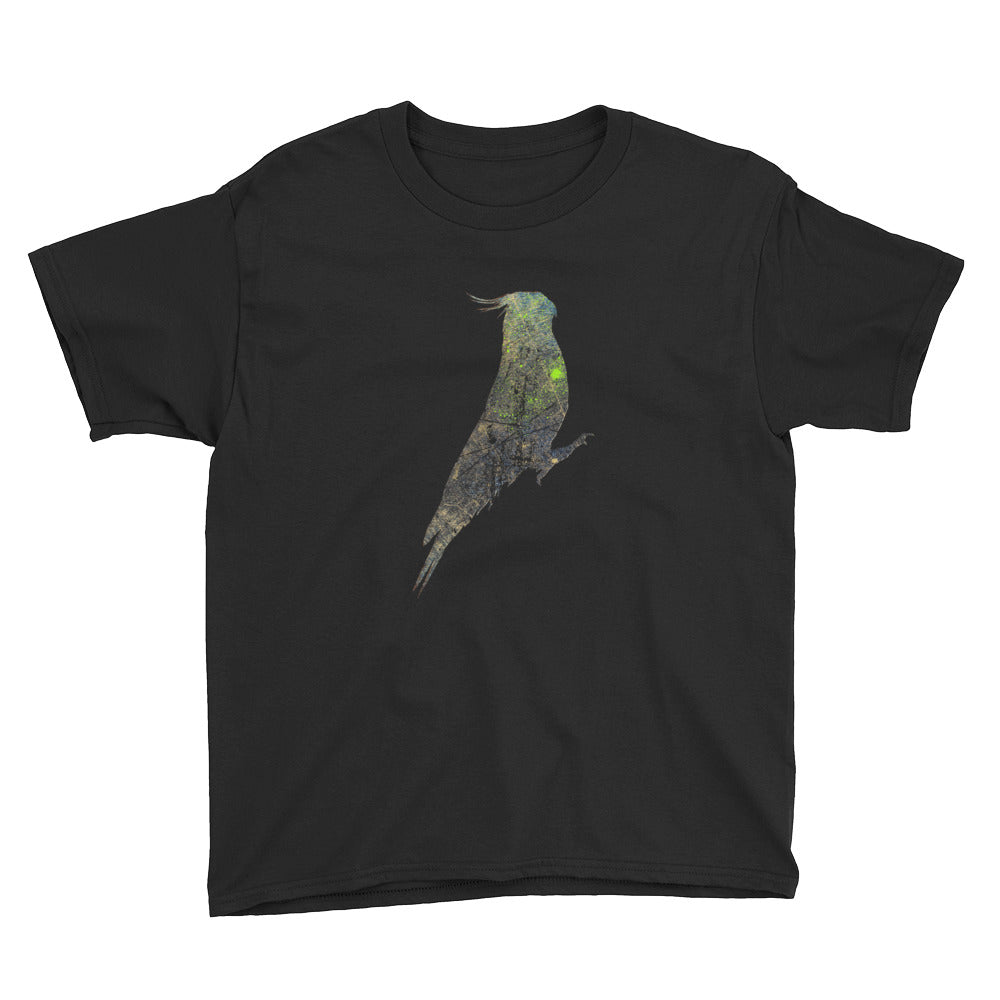 Youth Lightweight T-Shirt: Cockatiel Silhouette