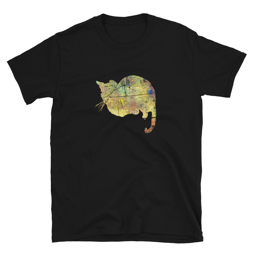 Unisex Basic Softstyle T-Shirt: Bengal Cat Silhouette