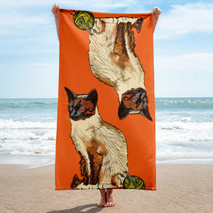 Sublimated Towel: Siamese Cat