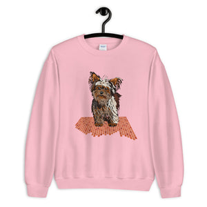 Unisex Crew Neck Sweatshirt: Yorkshire Terrier