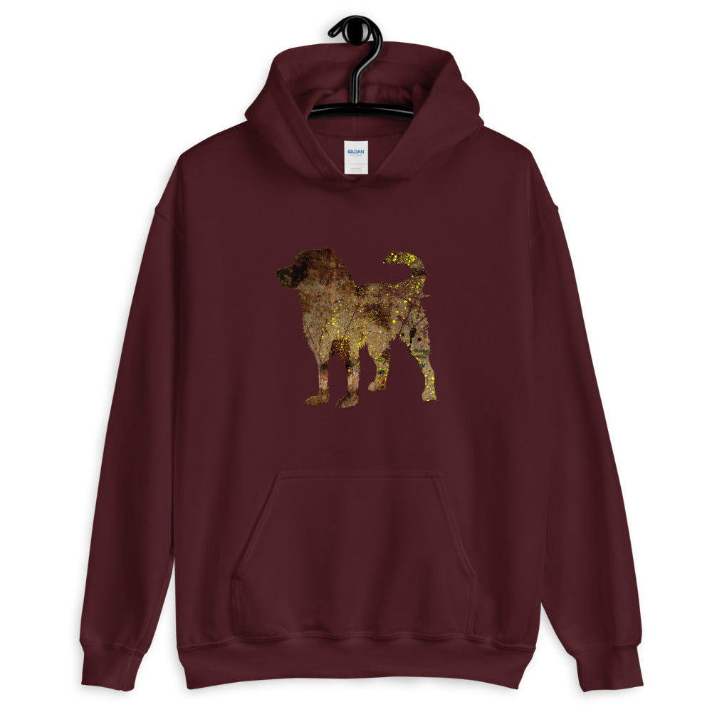 Unisex Heavy Blend Hoodie: Bernese Mountain Dog Silhouette