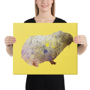Canvas (in): Guinea Pig Silhouette