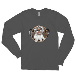 Unisex Long Sleeve Shirt: Shih Tzu