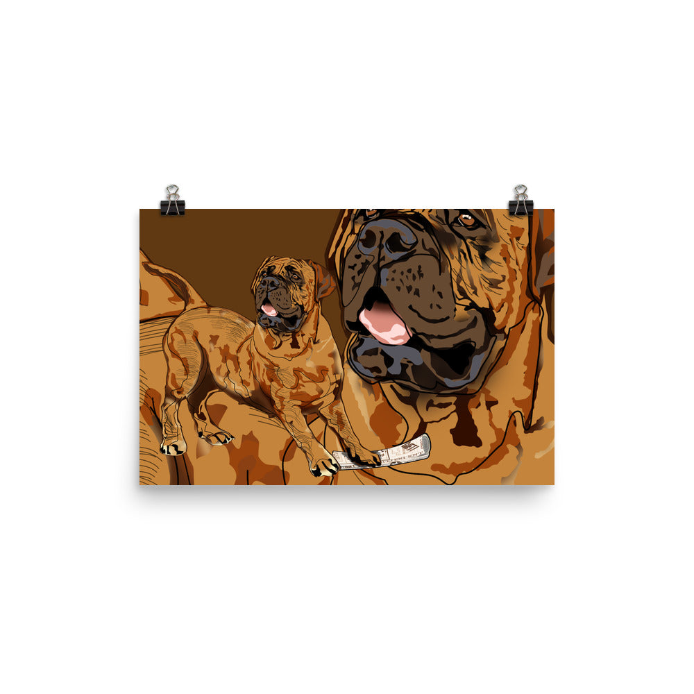 Enhanced Matte Paper Poster (in): Mastiff