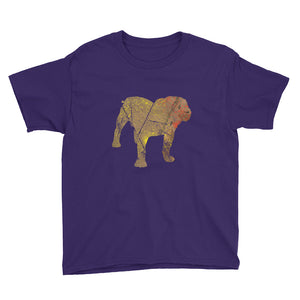 Youth Lightweight T-Shirt: Bulldog Silhouette