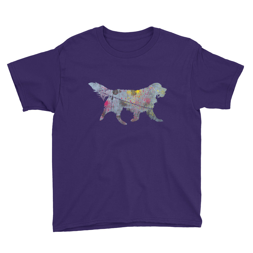 Youth Lightweight T-Shirt: Golden Retriever Silhouette