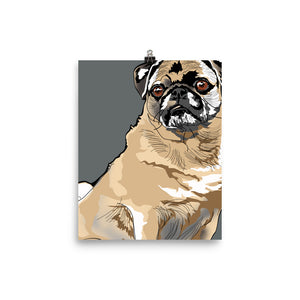 Enhanced Matte Paper Poster (in): Pug