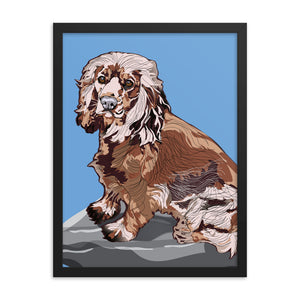 Enhanced Matte Paper Framed Poster (in): Cocker Spaniel