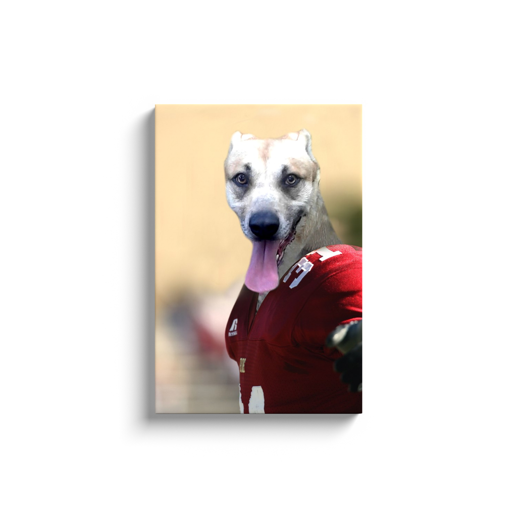 Custom Football Player Portrait for Maggie