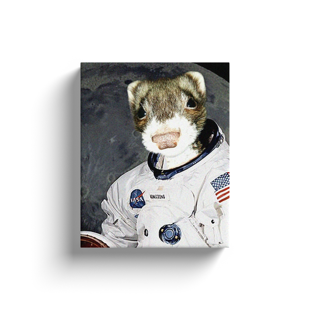 Canvas Wraps: Ferret Astronaut 1