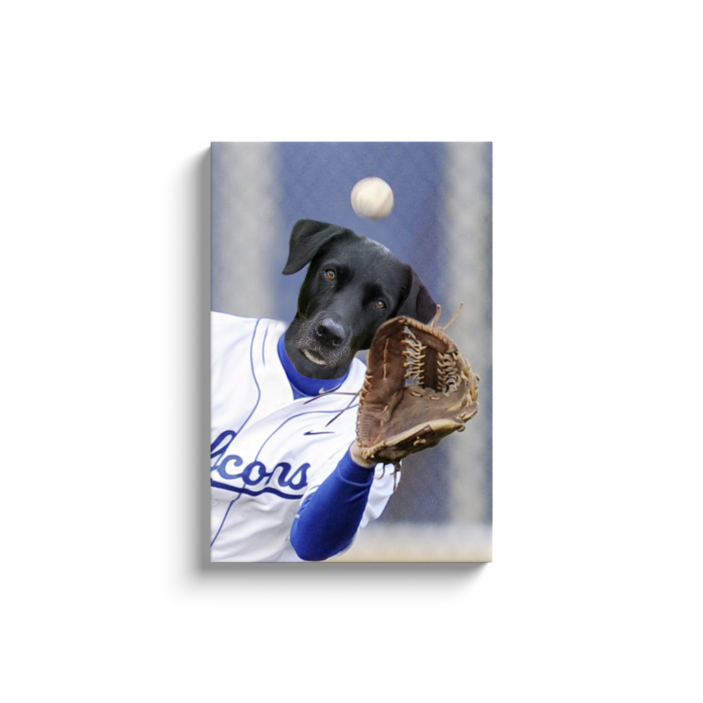 Custom Baseball Player Portrait for Cassie 1