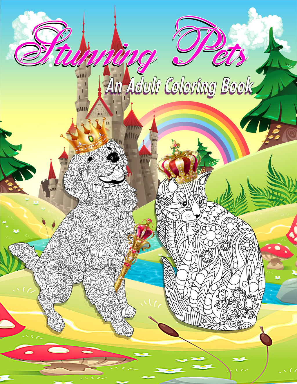 Stunning Pets: Adult's Coloring Book
