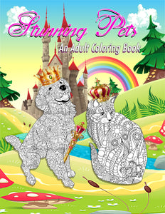 Stunning Pets: Adult Coloring Book