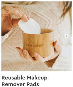 Bamboo -Reusable makeup Recover Pads