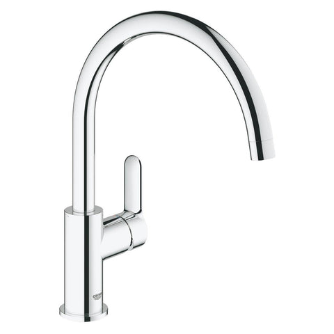 Grohe BauEdge C- Spout Kitchen Sink Tap Crome Finish 31233001 - Bath Outlet