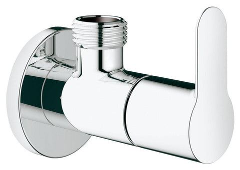 "Grohe BauEdge Angle Cock Valve Crome Finish 22009000 1/2"" Inlet & Outlet - Bath Outlet"