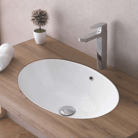 Ceramic Under Counter Oval Wash Basin 55 X 38 X 20 Cm - Bath Outlet