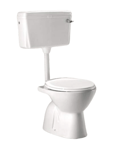Ceramic S Trap Cade With Seat Cover and Flush Tank Normal Western Commode  (White) - inartstore.in