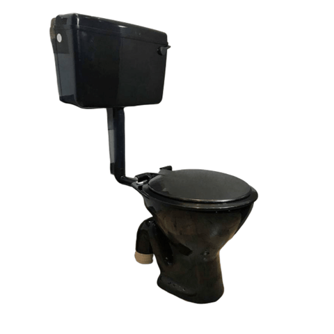 Ceramic EWC S Trap Normal With Flush Tank And Seat Cover Western Commode  (Black Glossy) - inartstore.in
