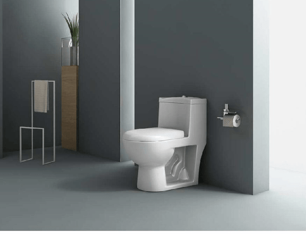 Ceramic One Piece Floor Mounted European Water Closet/Commode With Syphonic Tornado Flushing For Bathroom 9 Inch S-Trap - inartstore.in