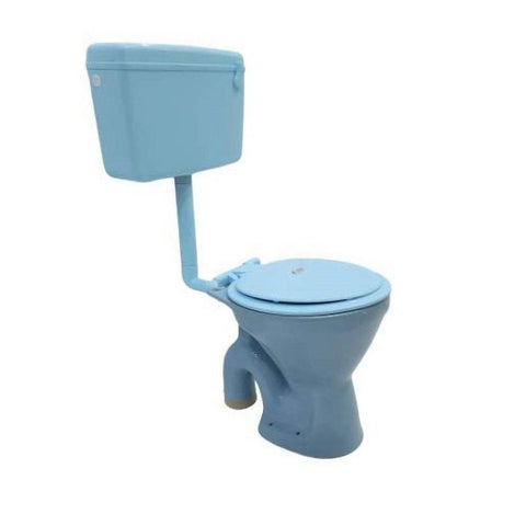 Ceramic EWC S Trap Normal With Flush Tank And Seat Cover Western Commode  (Light Blue) - inartstore.in
