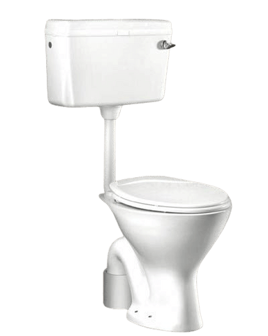 Ceramic EWC S Trap Normal With Flush Tank And Seat Cover Western Commode  (White) - inartstore.in